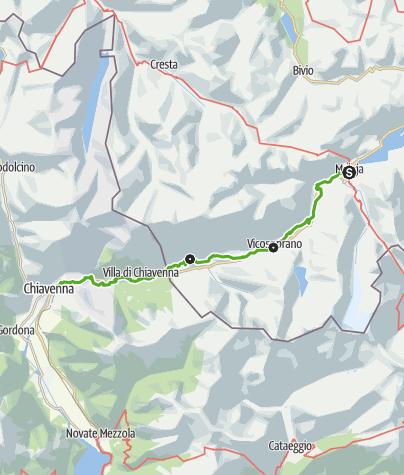 Karte / Via Bregaglia