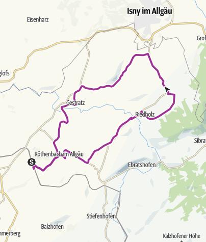 Karte / Mit der Familie durch die vier Argentalgemeinden