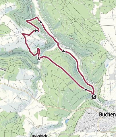 Karte / Morretal-Weg B4