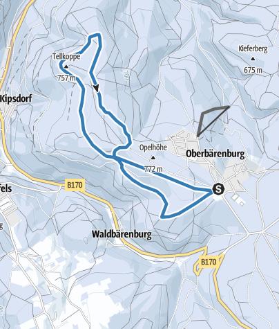 Karte / Rund-Skiwanderweg Tellkoppe (S3)