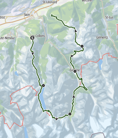 Map / Tour Val d'Hérens