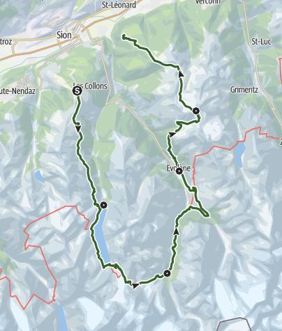 Carte / Tour Val d'Hérens