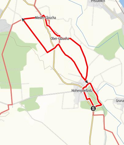 Karte / Graues Langohr - Rundweg um Hohenprießnitz