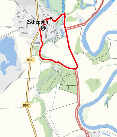 Karte / Heldbock - Rundweg um Zschepplin