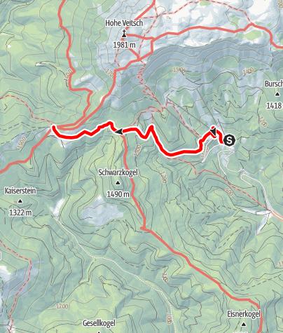 Karte / Auf die Rotsohlalm