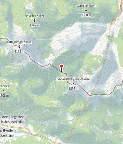 Karte / Mlinzasattel