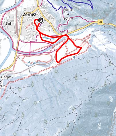 Karte / Zernez: Rundloipe
