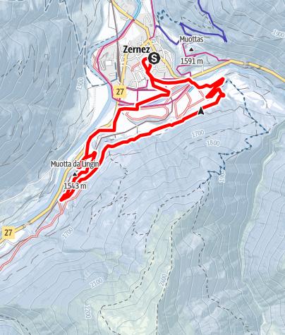 Karte / Zernez: Rennloipe