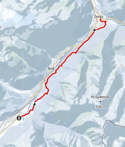 Karte / S-chanf - Zernez