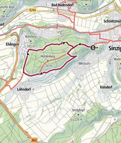 Map / Bad Bodendorf - Panoramaweg