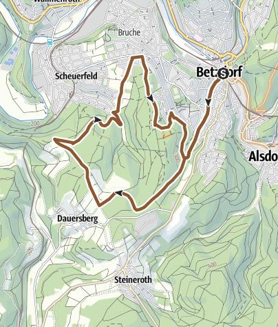 Map / Mountainbikenetz Altenkirchen  - Scheuerberg-Schleife (E)