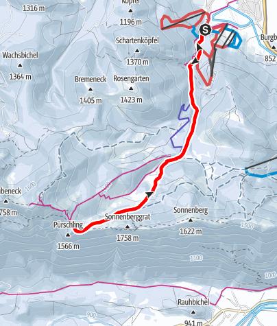 Karte / Rodelbahn am Pürschling