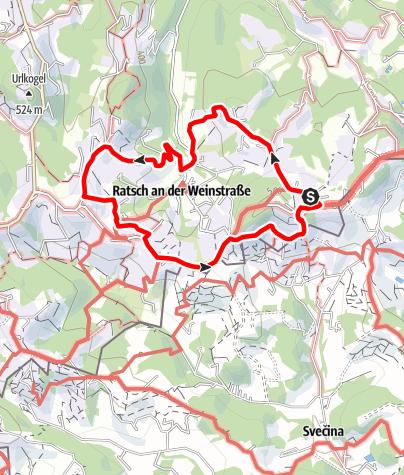 Karte / Weinwanderweg Ratsch-Ottenberg (Variante 21a)