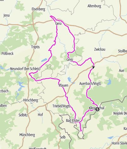 Karte / Vogtland Panorama Rennradrunde
