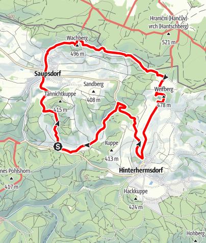 Karte / Zu den Aussichtsgipfeln der Hinteren Sächsischen Schweiz
