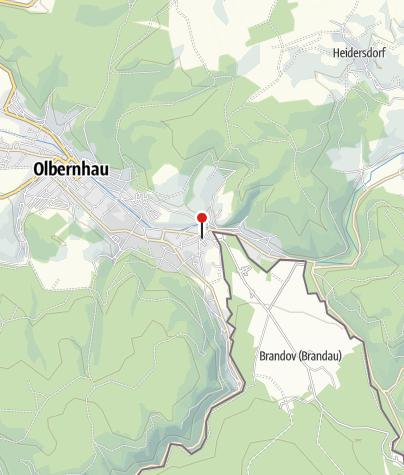 """Karte / Auf den Spuren der Raubritter zur """"Böhmischen Schweiz"""""""
