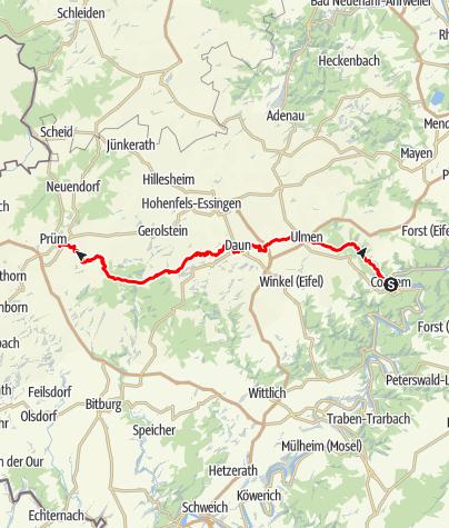 Karte / Karolingerweg (15) – Gesamtverlauf