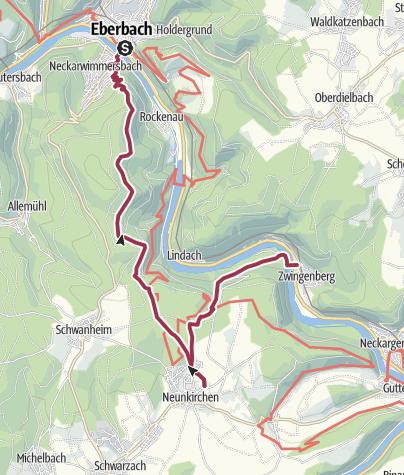 Karte / Neunkirchen Zwingenberg