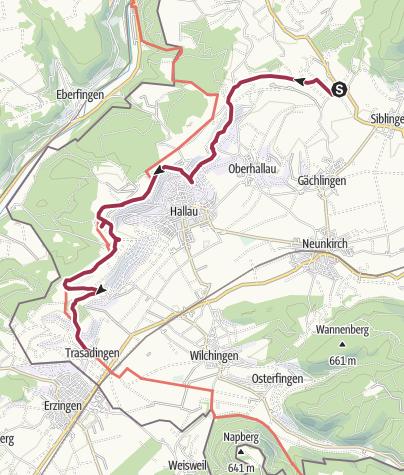 Karte / Blauburgunderland Panoramaweg