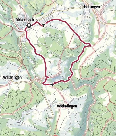 Karte / Rickenbach: Im wildromantischen Tal der Hauensteiner Murg