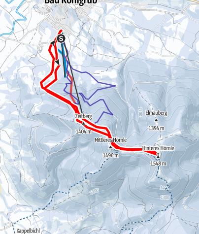 Karte / Skitour - Hinteres Hörnle