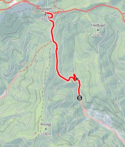 Karte / Wanderung Kleinveitsch (vom Schranken Waldbauer)