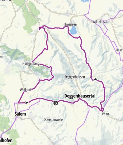 Karte / Höchsten-Tour