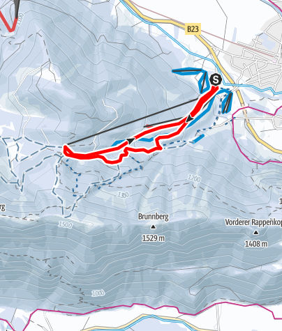 Karte / Skitour - Kolbensattel