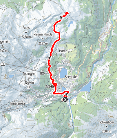 Karte / Reittour Prätschalp