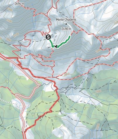 Karte / 01 MONTE CHIADENIS per la ferrata ovest