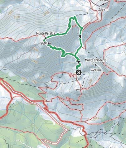 Map / 03 MONTE PERALBA per la ferrata Sartor
