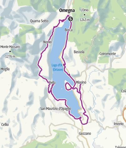 Cartina / Giro intorno al Lago d'Orta con eBike