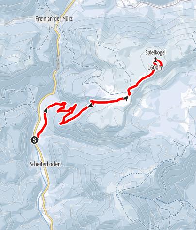 Karte / Schneeschuhwanderparadies Hinteralm im Naturpark Mürzer Oberland