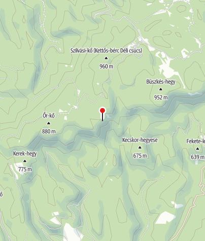 Map / Cserepes-kő cave lodge