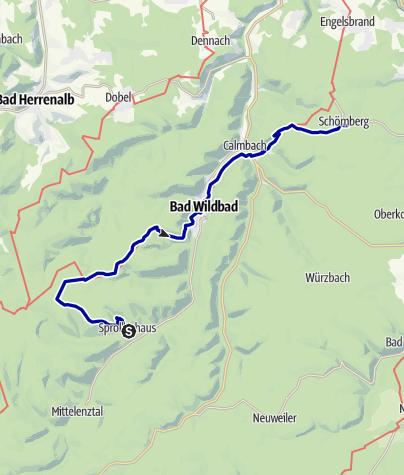 Karte / Sprollenhaus- Schömberg
