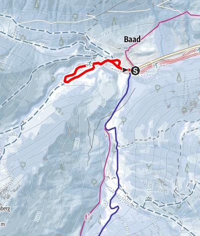 Karte / Steinbock Loipe - Derra