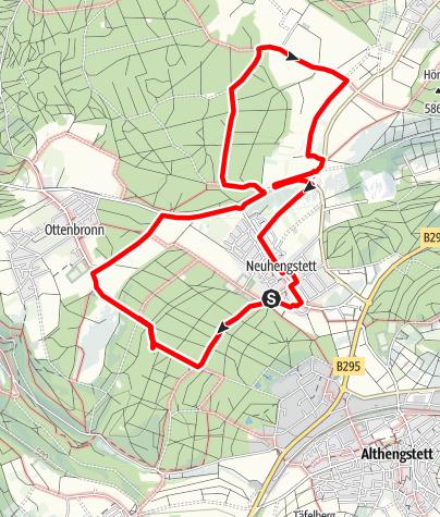 Karte / Spiritueller Waldenserweg  um Neuhengstett