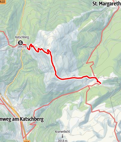 Karte / Nockberge-Trail: Wanderroute Etappe 1