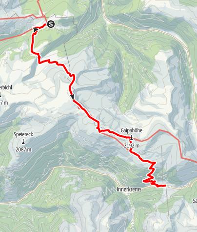 Karte / Nockberge-Trail: Wanderroute Etappe 2