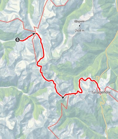 Karte / Nockberge-Trail: Wanderroute Etappe 3