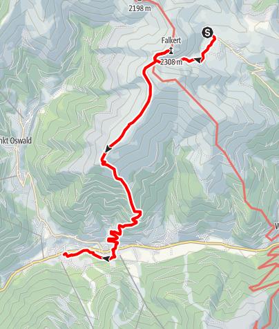 Karte / Nockberge-Trail: Wanderroute Etappe 5