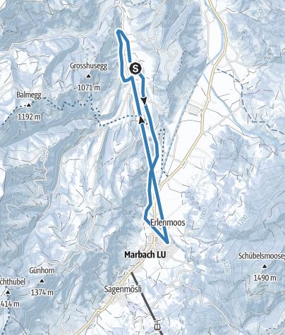 Map / Loipe Marbach-Schärlig retour
