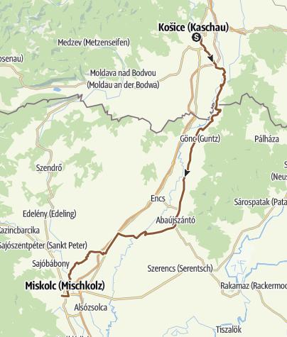 Térkép / Kassa-Miskolc