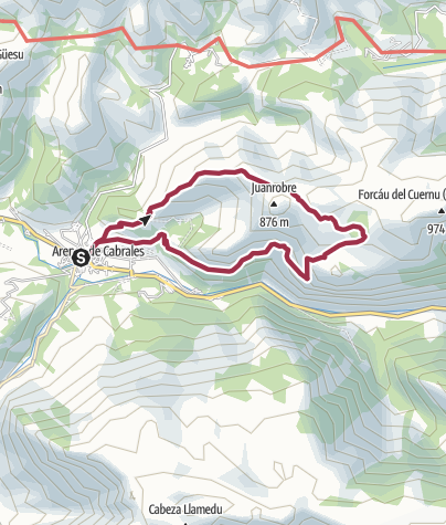 Map / Circular Walk from Arenas