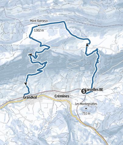 Map / Von Corcelles über den Mont Raimeux nach Grandval