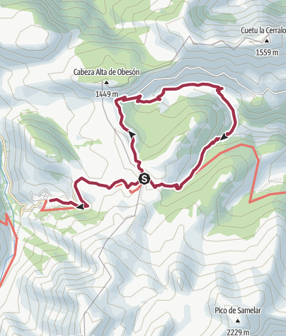 Map / Hitu Escarandi to Sotres (via Valle Sobra)