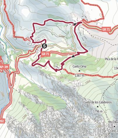 Map / Circular walk around Sotres