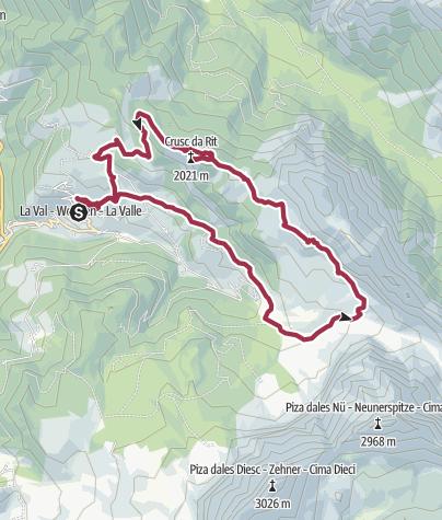 Map / Crusc de Rit Circular Walk