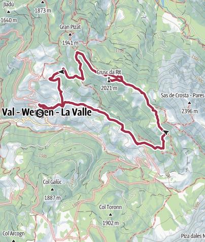 Map / Crusc de Rit Circular Walk (Shortcut Version)
