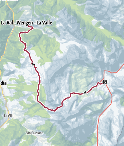 Map / Fanes to La Valle walk